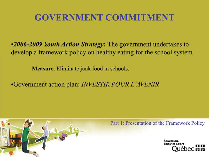 GOVERNMENT COMMITMENT