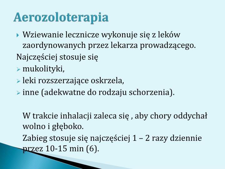 Aerozoloterapia