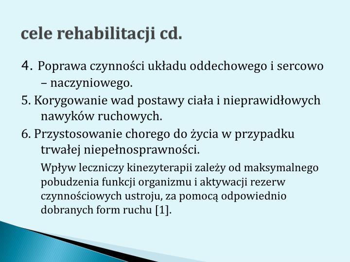 cele rehabilitacji cd.