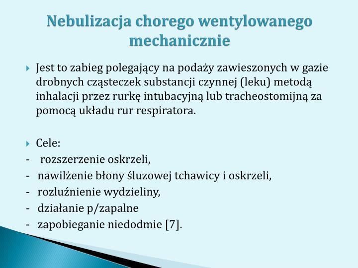 Nebulizacja chorego wentylowanego mechanicznie