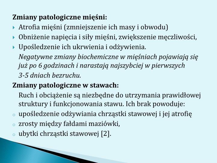 Zmiany patologiczne mini: