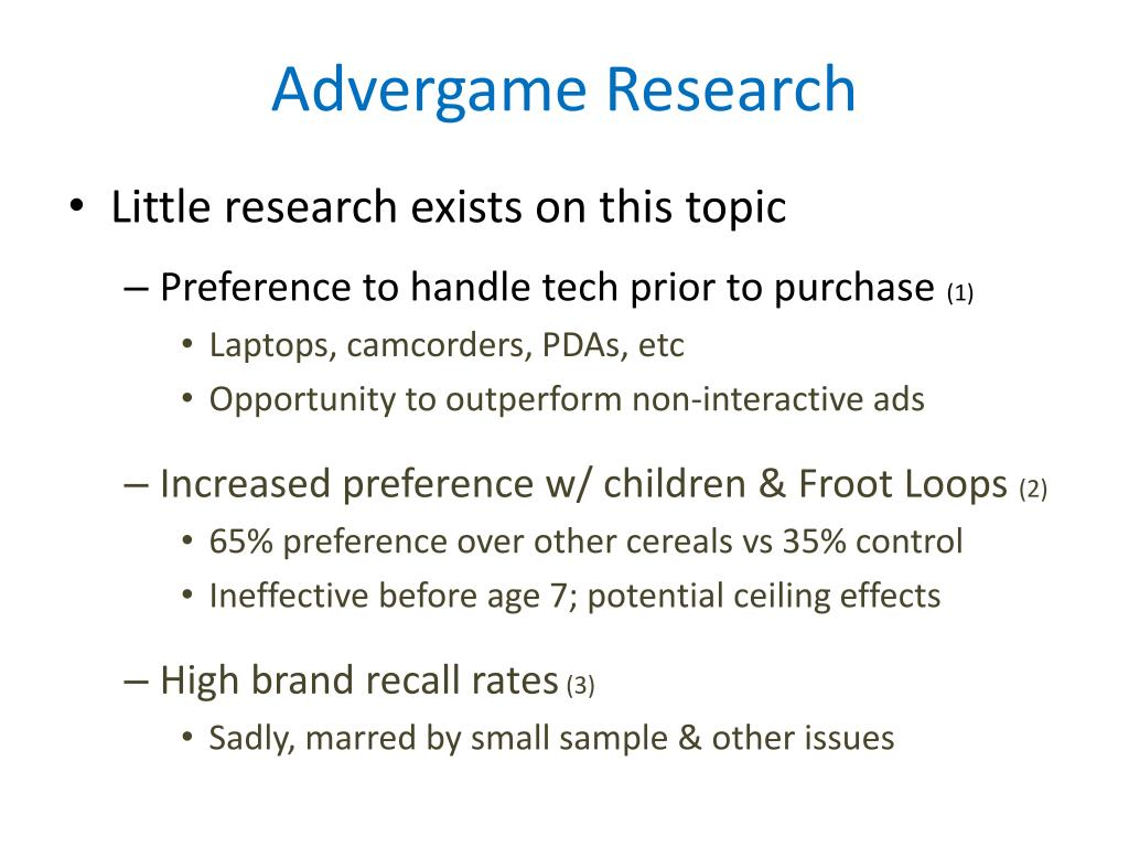 Advergame Research