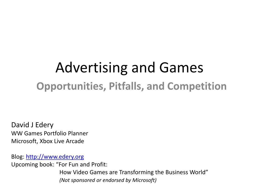 Advertising and Games