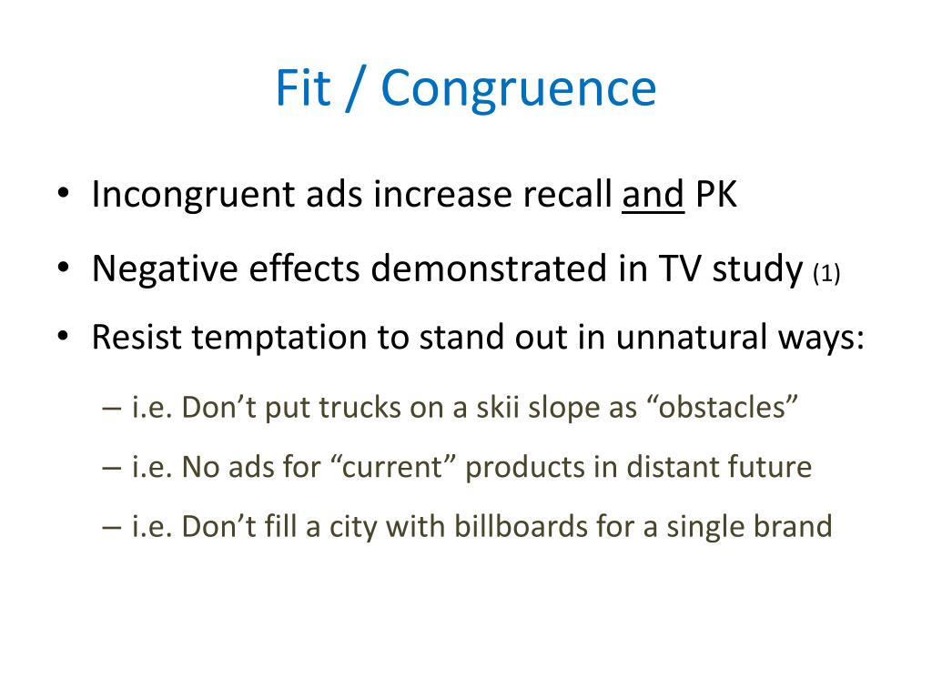 Fit / Congruence