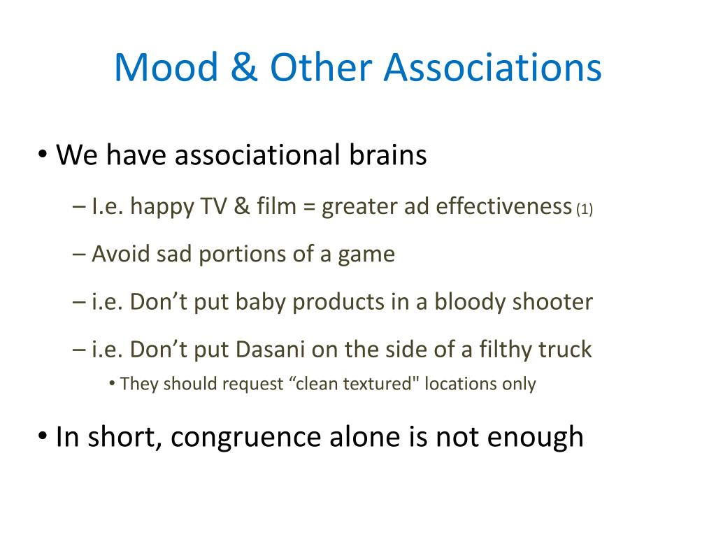 Mood & Other Associations