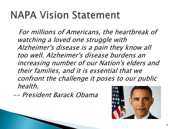 NAPA Vision Statement