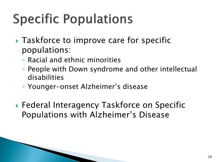 Specific Populations