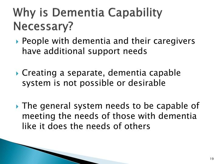 Why is Dementia Capability Necessary?
