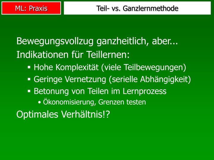 Teil- vs. Ganzlernmethode
