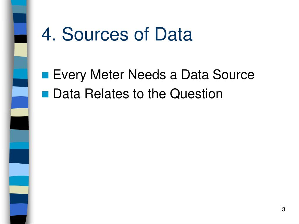 4. Sources of Data