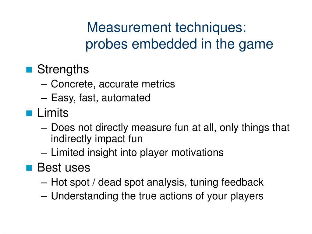 Measurement techniques: