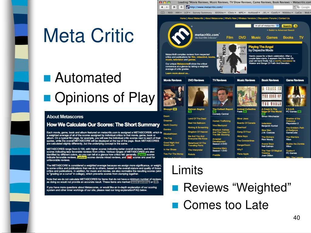 Meta Critic