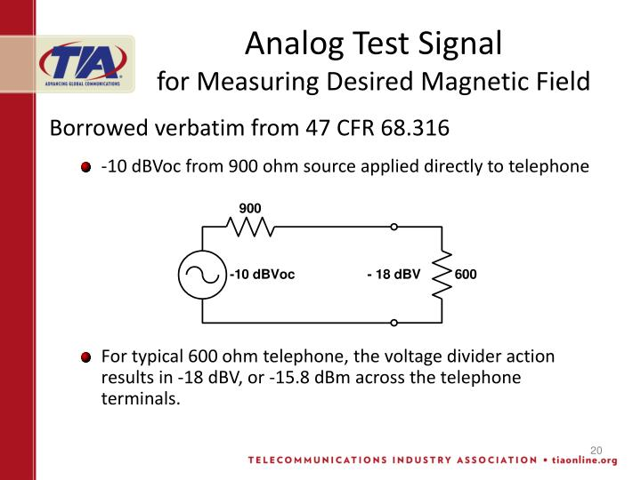 Analog Test Signal