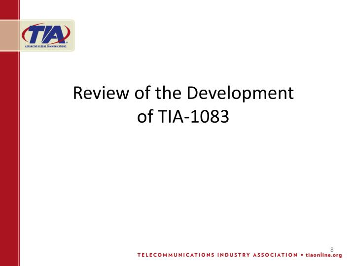Review of the Development