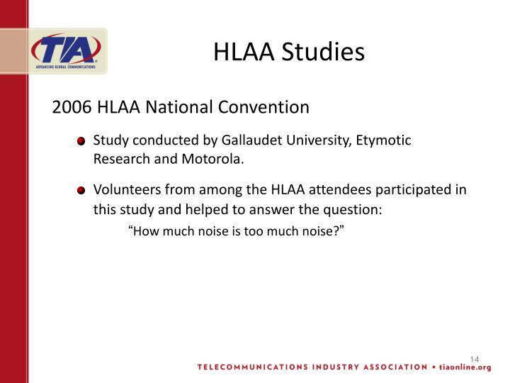 HLAA Studies