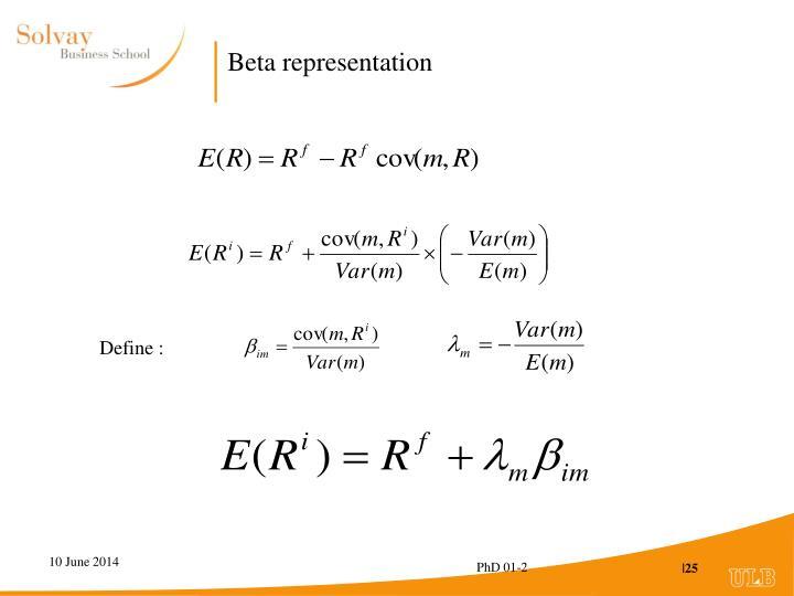 Beta representation
