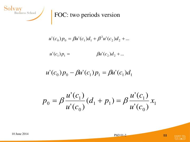 FOC: two periods version