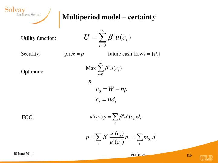 Multiperiod model – certainty