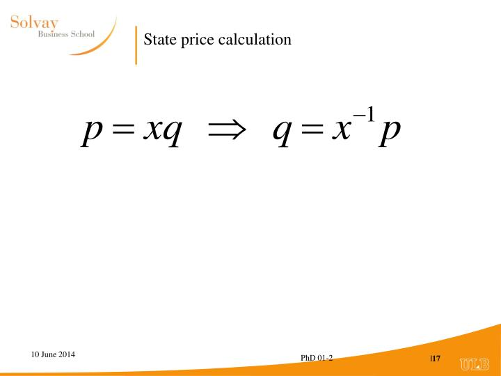 State price calculation