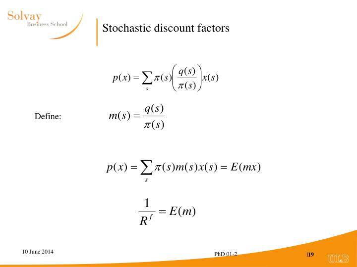 Stochastic discount factors