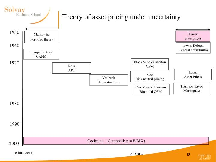 Theory of asset pricing under uncertainty