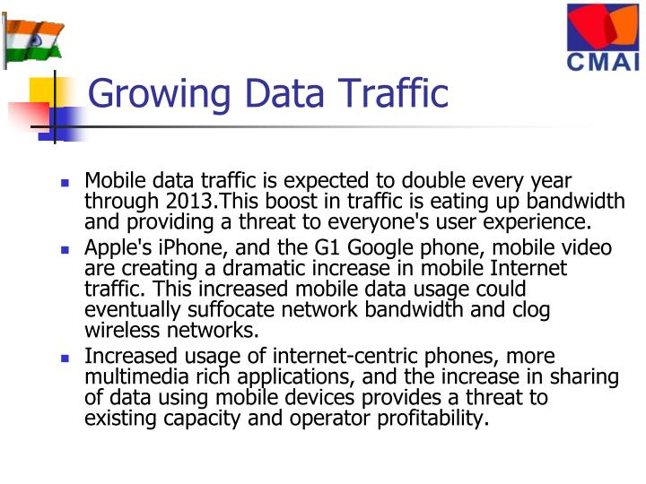 Growing Data Traffic