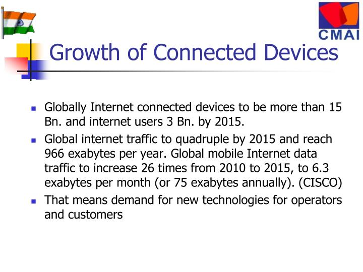 Growth of Connected Devices
