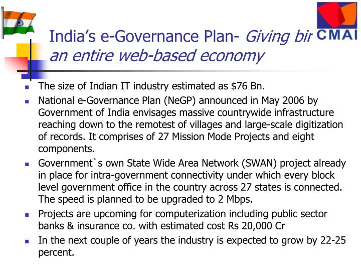 India's e-Governance Plan-
