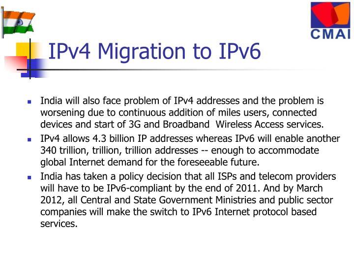 IPv4 Migration to IPv6