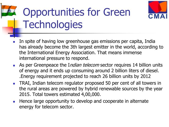 Opportunities for Green Technologies