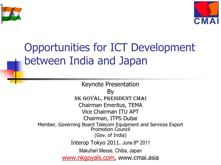 Opportunities for ict development between india and japan