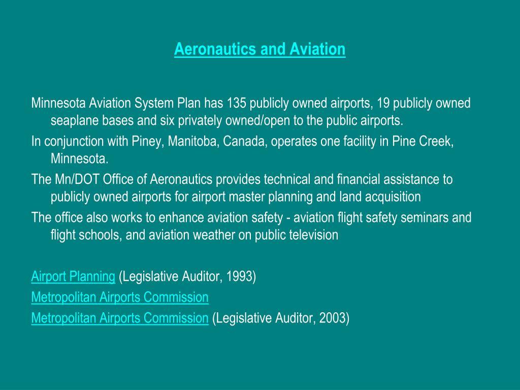 Aeronautics and Aviation