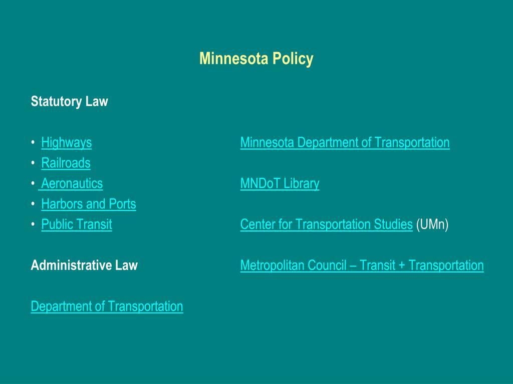 Minnesota Policy