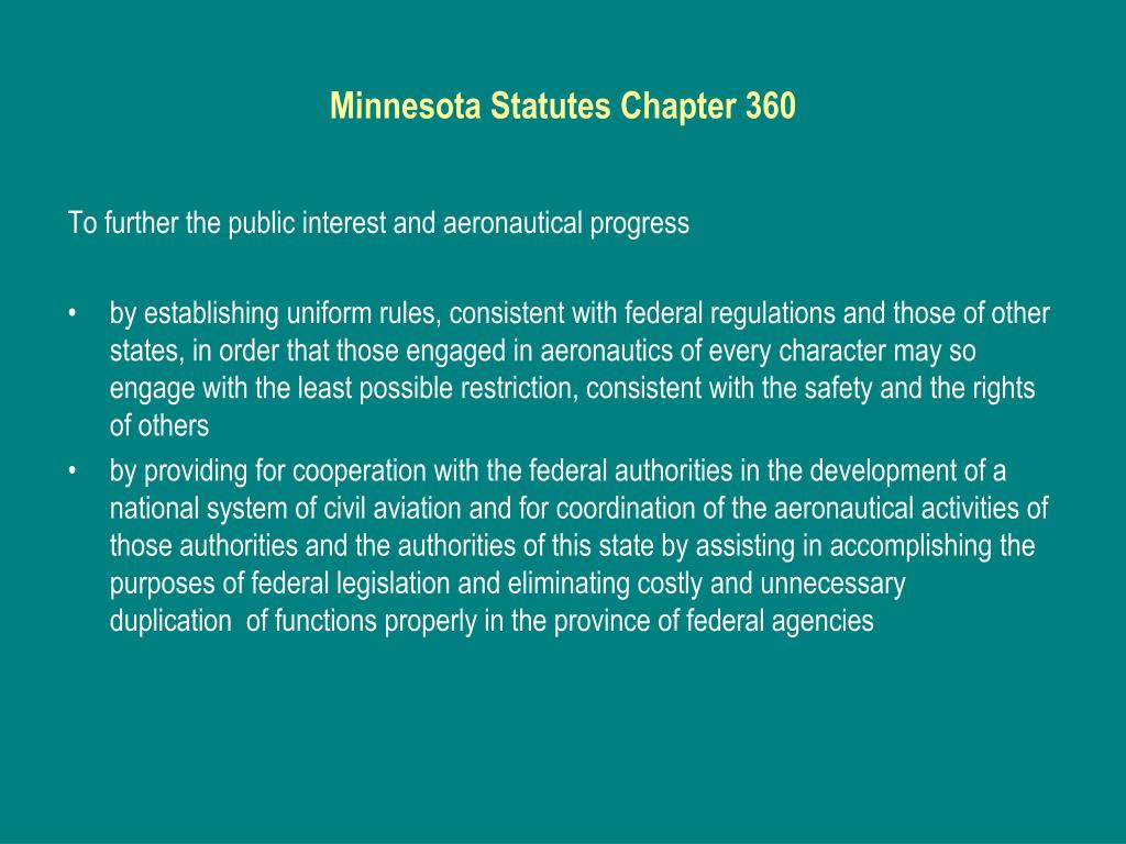 Minnesota Statutes Chapter 360