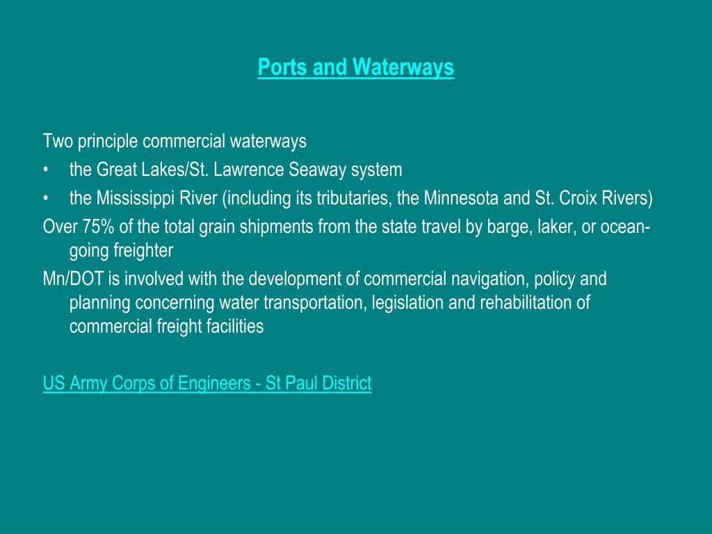 Ports and Waterways