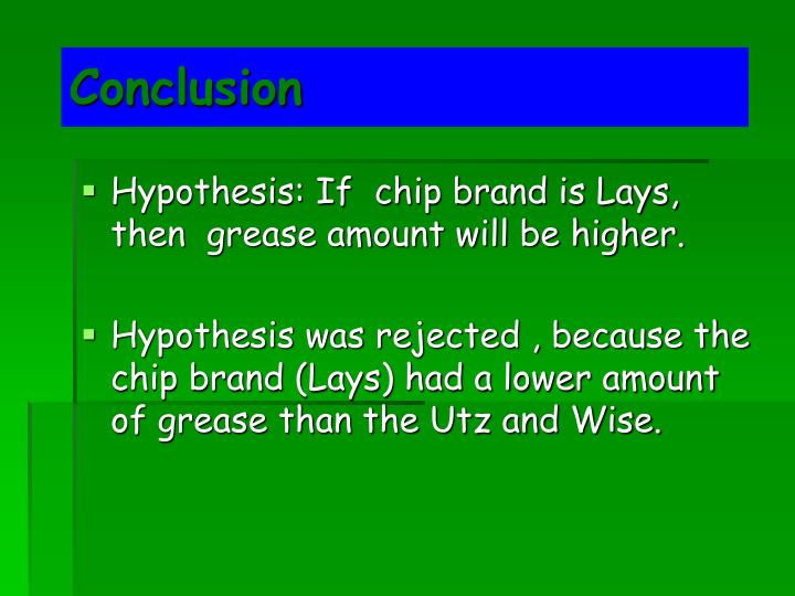 hypothesis in potato chips Greasey potato chips science fair sridevi subramanian loading unsubscribe from sridevi subramanian cancel unsubscribe working.