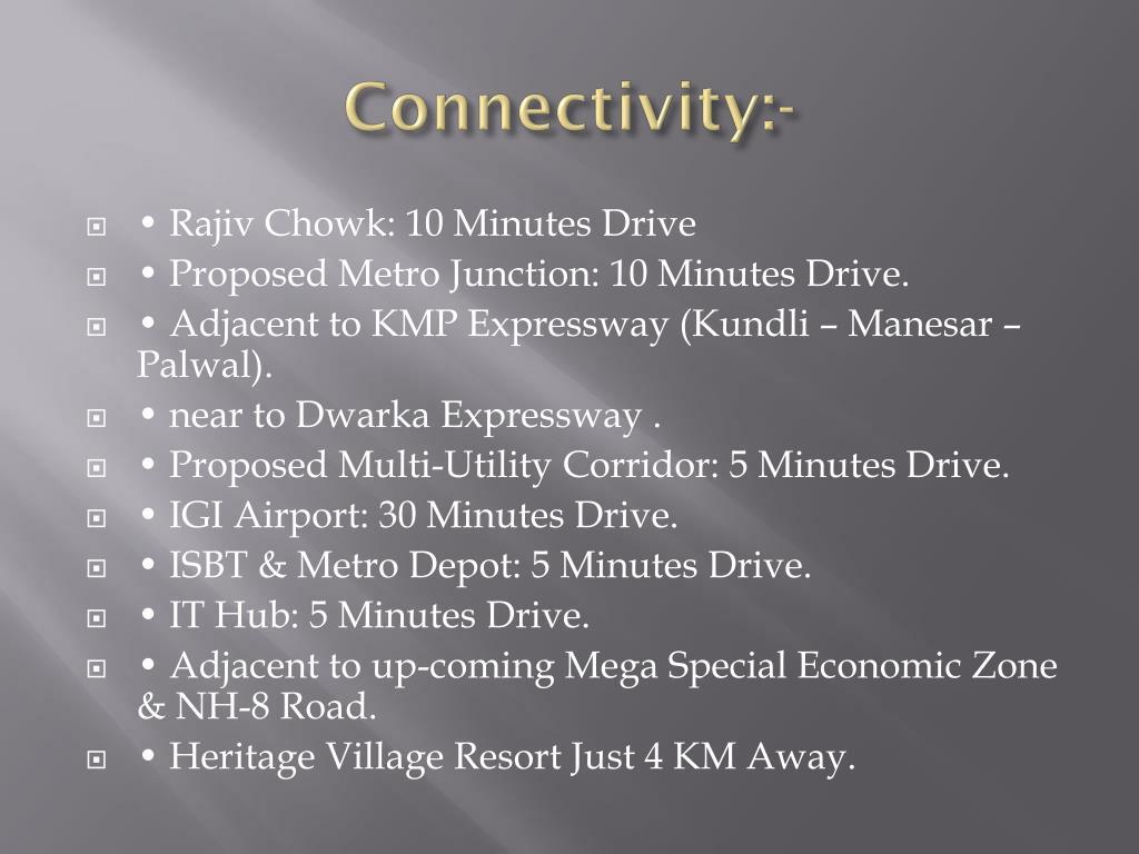 Connectivity:-