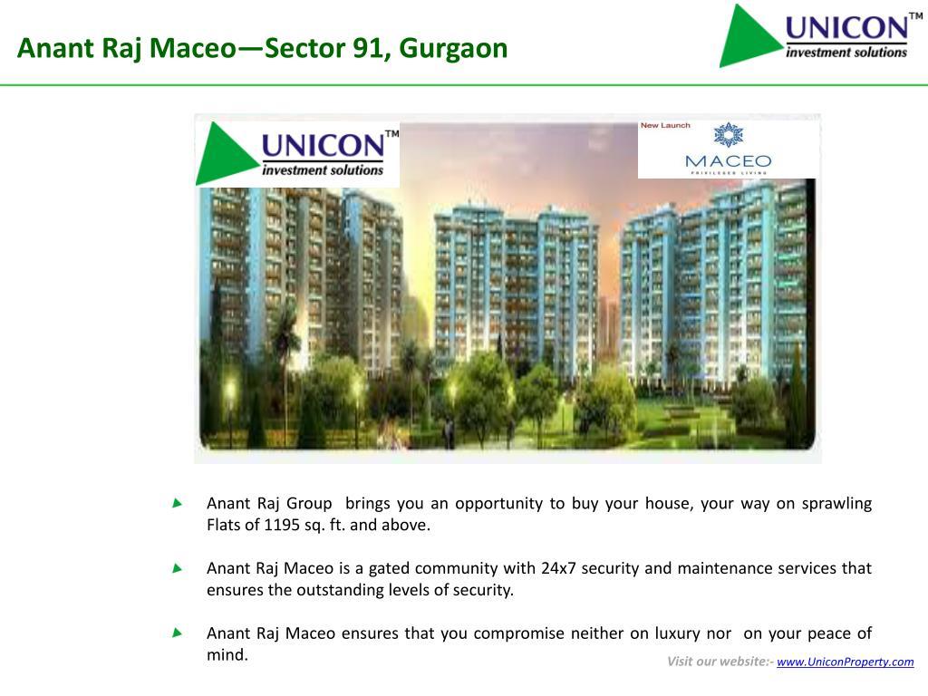 Anant Raj Maceo—Sector 91, Gurgaon