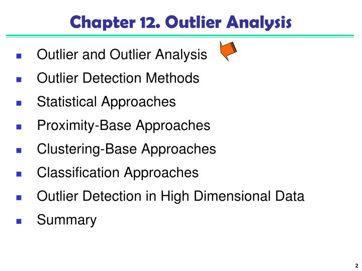Chapter 12 outlier analysis