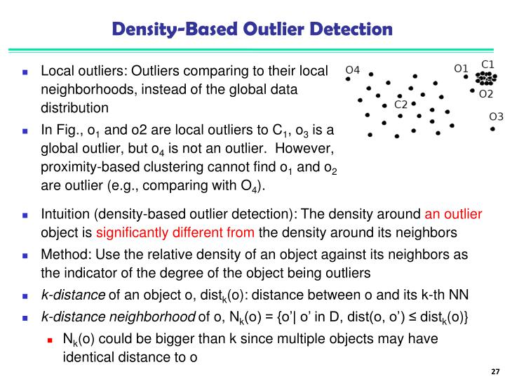 Density-Based Outlier Detection