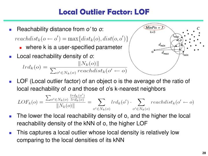 Local Outlier Factor: LOF