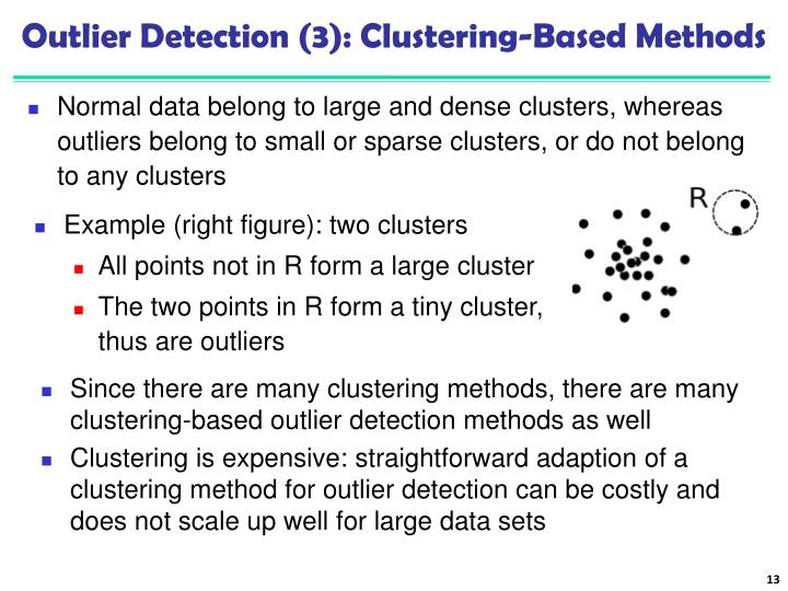 Outlier Detection (3): Clustering-Based Methods