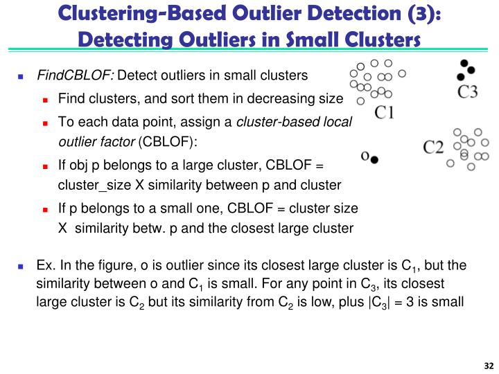 Clustering-Based Outlier Detection (3):
