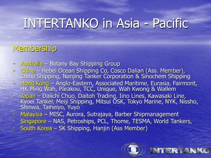 INTERTANKO in Asia - Pacific