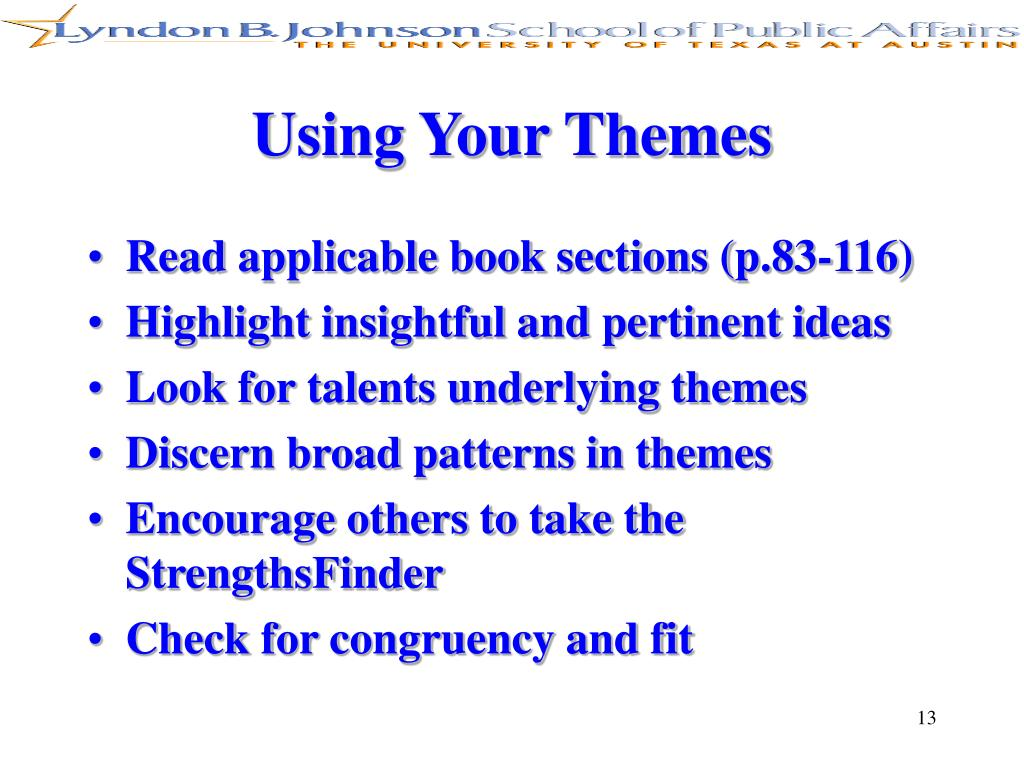 Using Your Themes