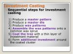 investment casting