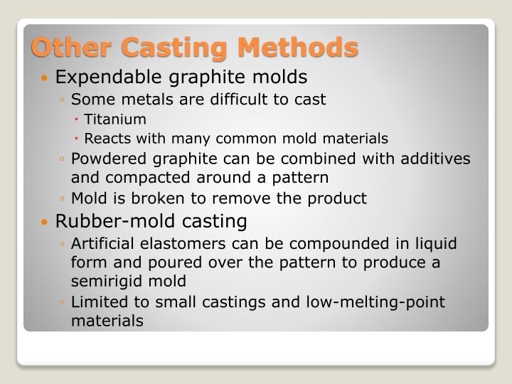 Expendable graphite molds