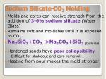 sodium silicate co 2 molding