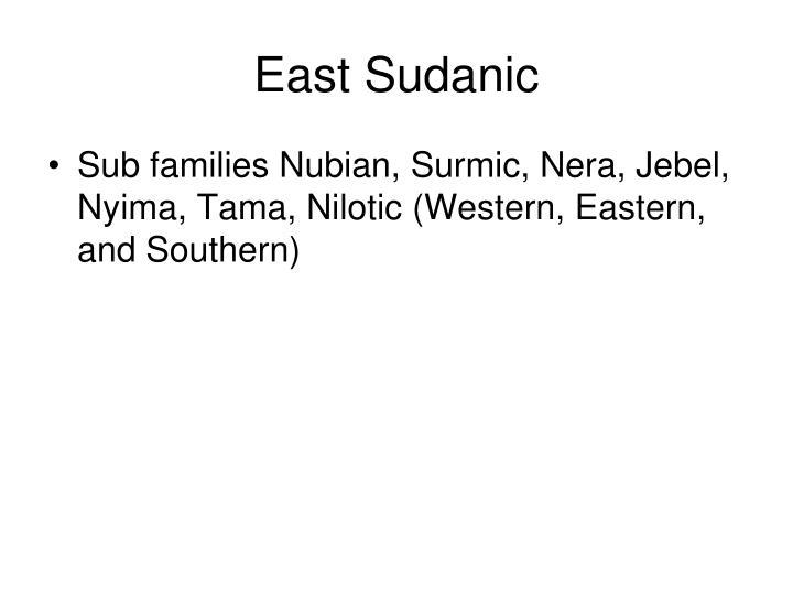 East Sudanic