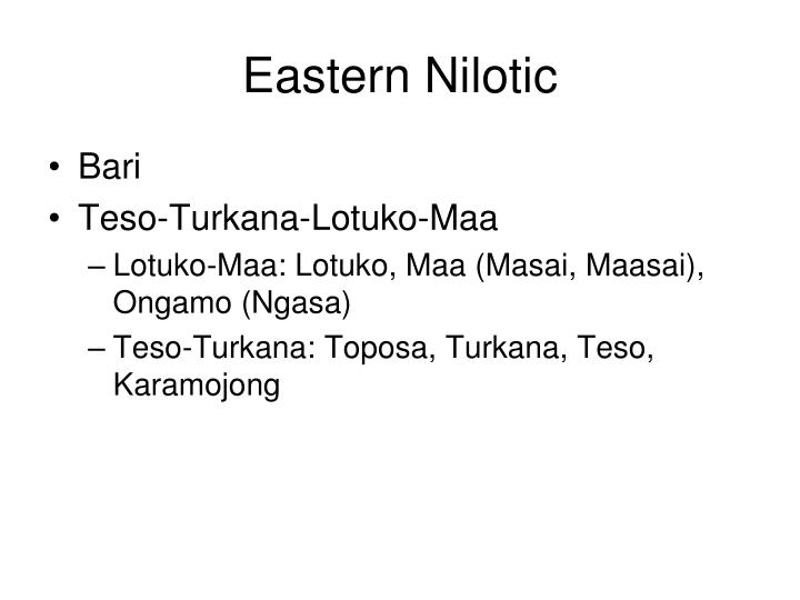 Eastern Nilotic